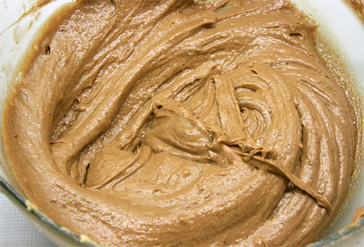 the chocolate cake batter